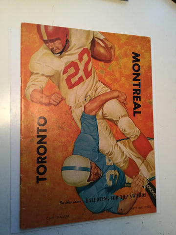 CFL football rare game program Argos vs Montreal 1957