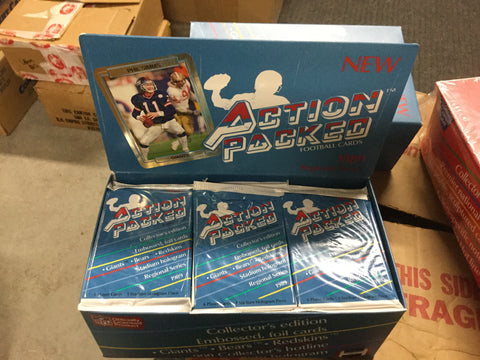 Action Packed football cards first year box 1989