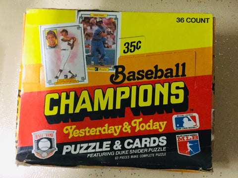 1984 Donruss Baseball Champions cards 36 packs box
