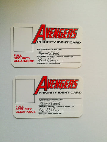 Marvel Avengers rare two original membership cards 1982