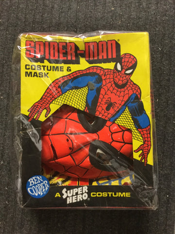 Spider-Man Rare costume with mask in box 1970s Ben Cooper