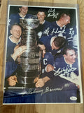Toronto Maple Leafs Stanley Cup winners multi Signed Photo JSA Certified