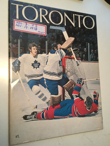 Toronto Maple Leafs hockey Program Nov.19,1970