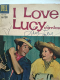 Lucy and Desi Rare double autograph I love Lucy comic book with COA