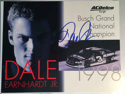 Dale Earnhardt Jr rare NASCAR Signed Photo with COA