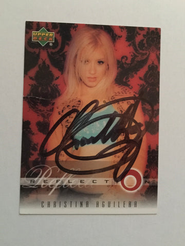Christina Aguilera Rare signed card with COA