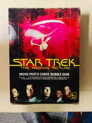 Star Trek first movie cards 36 packs box Topps 1979