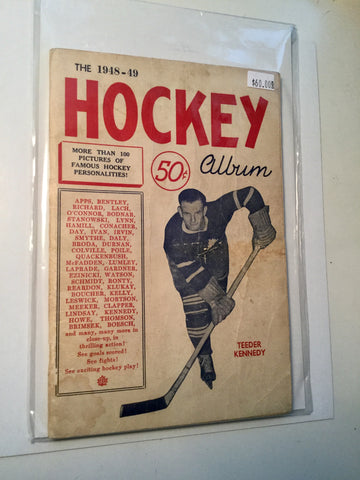 Hockey album rare magazine 1948