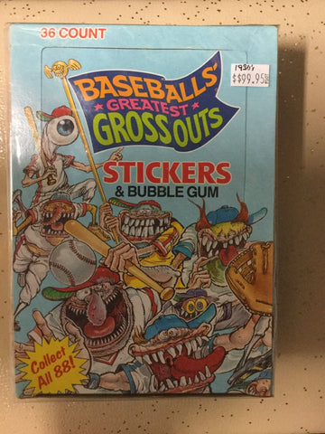 1988 Baseball Greatest Grossouts 36 packs box