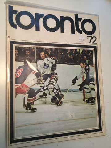 Toronto Maple Leafs hockey game program 1972.