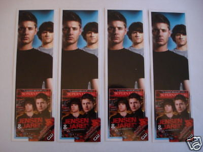 Supernatural TV show set of 4 limited bookmarks