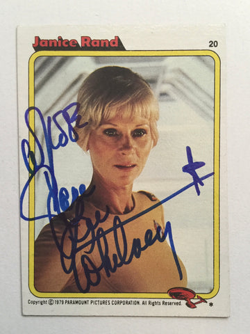 Star Trek Grace Lee Whitney Rare signed card with COA