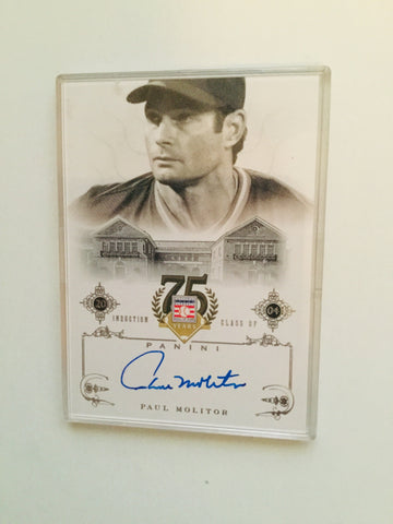 Blue Jays legend Paul Molitor signed insert baseball card