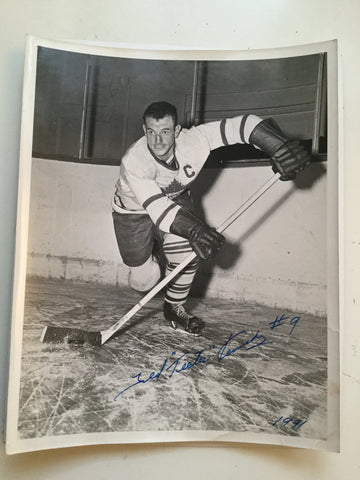 Ted Kennedy Toronto Maple Leafs hockey legend signed photo with COA