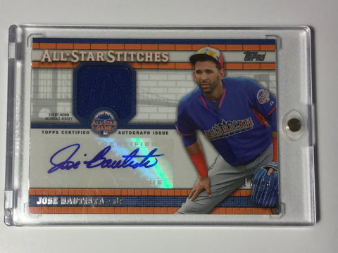 Blue Jays Jose Bautista jersey signed numbered card