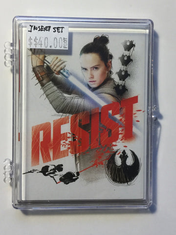 Last Jedi movie Star Wars Insert Card set