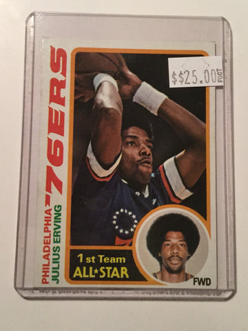 Julius Erving NBA All star basketball Card 1978