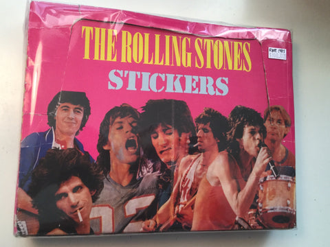 Rolling Stones rare stickers full box 1983