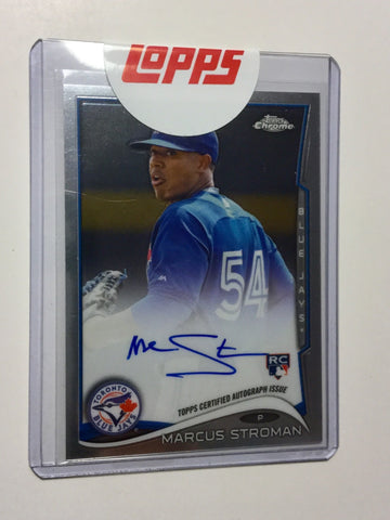 Blue Jays Marcus Stroman rare signed insert rookie card