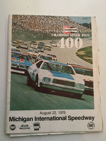 NASCAR Michigan 400 race program 1978