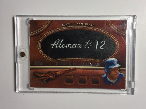 Blue jays Roberto Alomar name plate numbered card