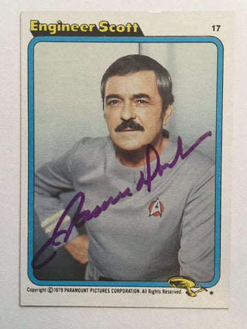 Star Trek James Doohan signed in person card with COA