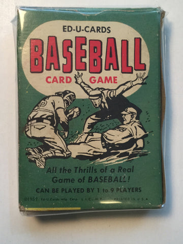 Baseball game edu card set in box 1957