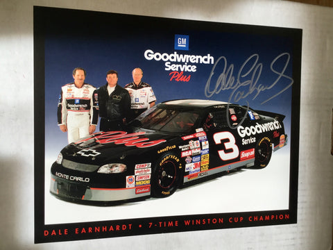 Dale Earnhardt NASCAR legend signed photo with COA