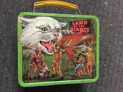 Land of the Giants TV show rare metal lunch box 1960s