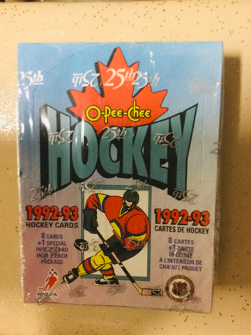 1992/93 Opc anniversary  hockey cards factory sealed box