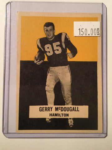 CFL Rare Wheaties football Card of Gerry McDougall 1959