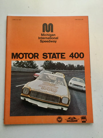NASCAR Michigan 400 race program 1974