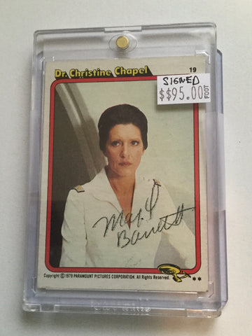 Star Trek Majel Barrett rare signed in person card with COA