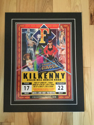 Circus rare poster only issued in Kilkenny, Ireland