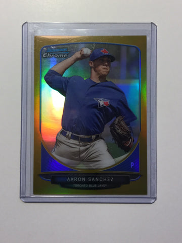 Blue Jays Bowman Chrome gold Aaron Sanchez rookie card numbered