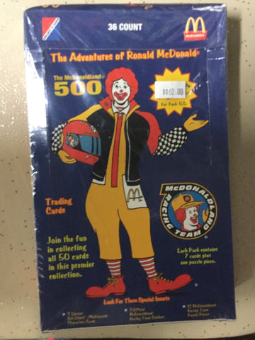 McDonald's Ronald McDonald limited print cards 36 packs box