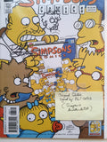 The Simpsons comic with original sketch signed by Phil Ortiz with COA
