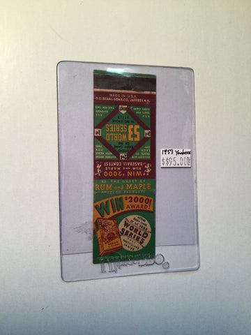 World Series baseball rare match book 1953