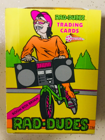 1980s Pacific Rad Dudes rare limited issue cards 36 packs box