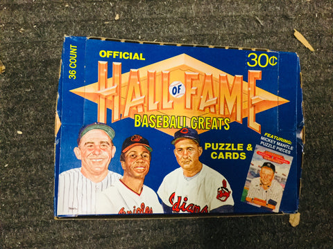 Hall of Fame baseball cards full box 1981