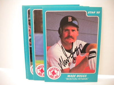 Wade Boggs signed rare Star mint card set 1988