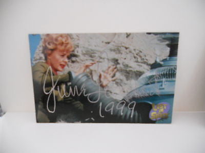 Lost in Space TV show June Lockhart signed card w/ COA