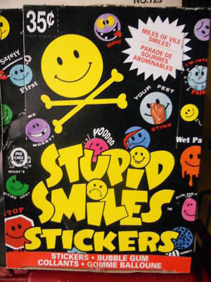 Stupid Smile stickers cards full  box. 1990s