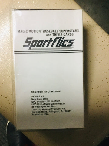 1986 Sportsflics baseball cards 36 packs factory box