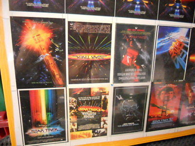Star Trek movies cards rare uncut sheet 1990s