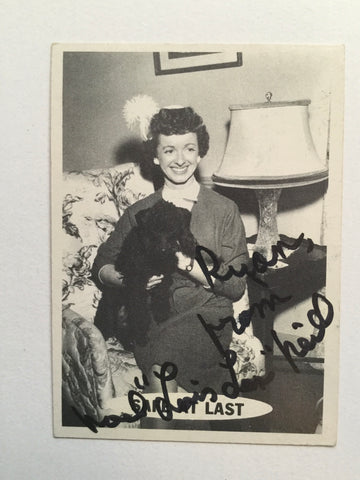 Superman TV show rare Lois Lane Noel Neill signed card with COA