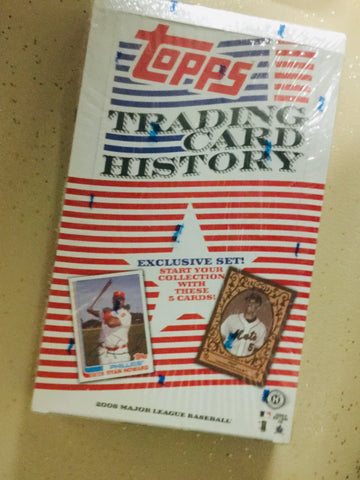 2008 Topps history baseball card packs factory sealed box