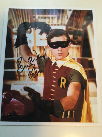 Batman Burt Ward Robin signed 8x10 photo w/COA