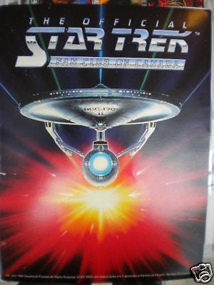 Star Trek vintage rare membership kit 1992 ( only in Canada)
