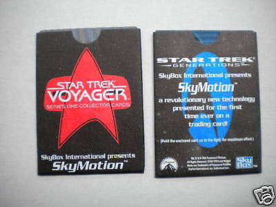 Star Trek motion insert two rare cards 1990s
